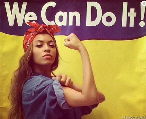 2015, sur son son compte intagram, Beyoncé se met en scène