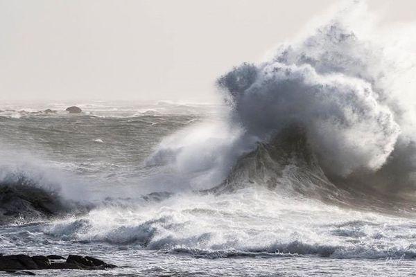 Mer déchaînée à Lesconil le 21 octobre 2017