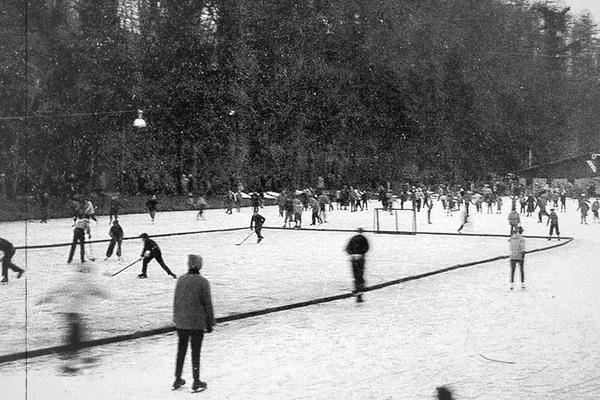 La patinoire de Poissompré autrefois