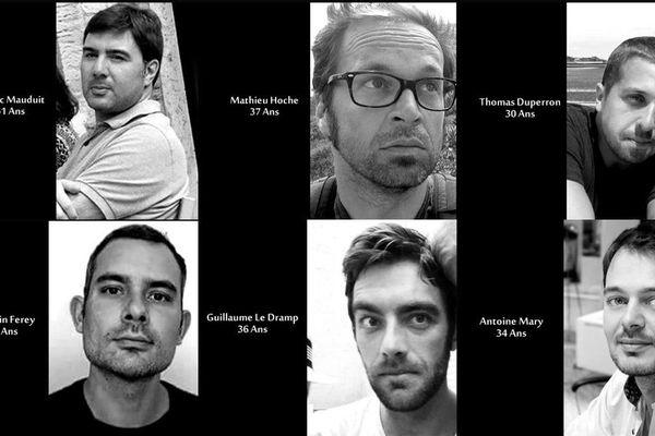 Cédric Mauduit, Mathieu Hoche, Thomas Duperron, Germain Ferrey, Guillaume Le Dramp et antoine Mary ont perdu la vie dans les attentats du 13 novembre 2015