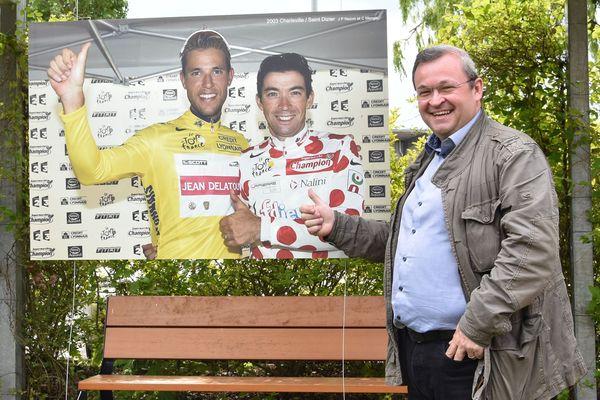Alexandre Marchi évoque avec plaisir l'instant de fierté des deux cyclistes lorrains titrés sur une même étape: maillot jaune pour Jean-Patrick Nazon, maillot à pois pour Christophe Mengin.