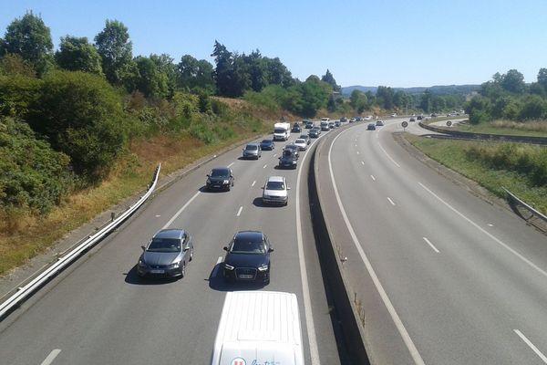 L'A20 est fermée dans le sens Paris-Toulouse entre les sorties 26 et 27.