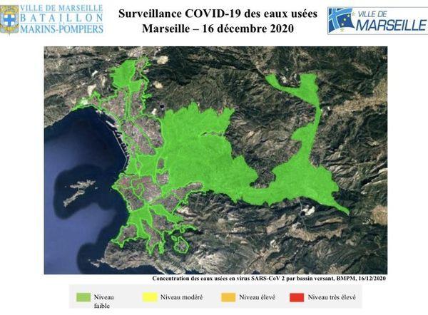 Niveau de Covid faible sur Marseille