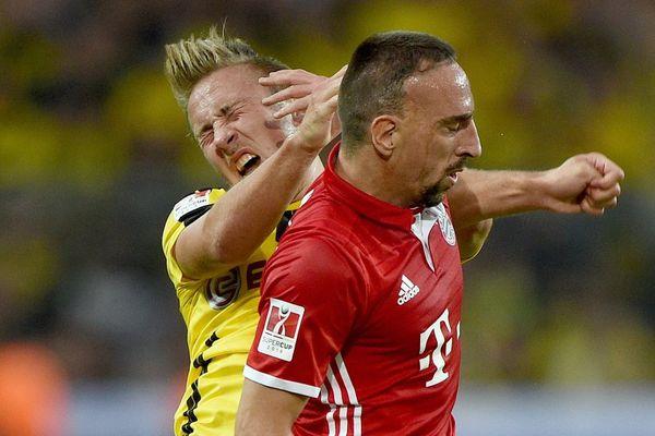 Franck Ribéry a été l'auteur d'un mauvais geste lors de la SuperCoupe d'Allemagne.