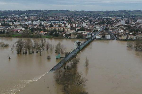 4 février 2021 : la ville de Marmande se retrouve isolée par les eaux