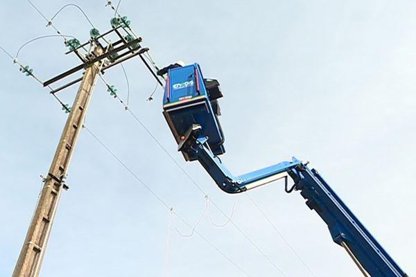 L'entretien des lignes est une garantie de sécurité et de continuité de service pour ENEDIS