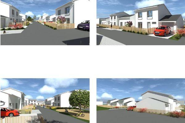 Des pavillons résidentiels seront construits durant les travaux au quartier de Marmiers à Aurillac.