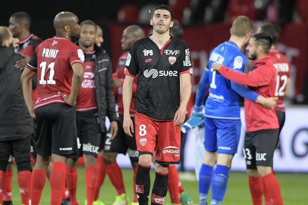 La déception de Pierre Lees-Melou, milieu offensif du Dijon FCO.
