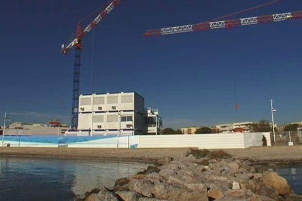 Balaruc (Hérault) - les travaux des futurs thermes - 20 novembre 2012.