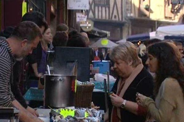 Rue de la Boucherie ce vendredi à Limoges
