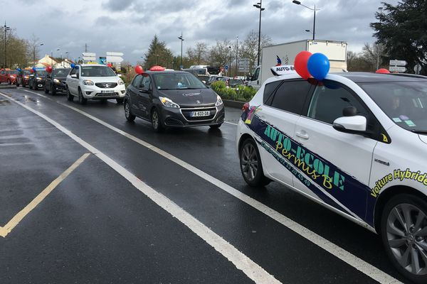 Manif des auto écoles à Nantes, le 4 mars 2019