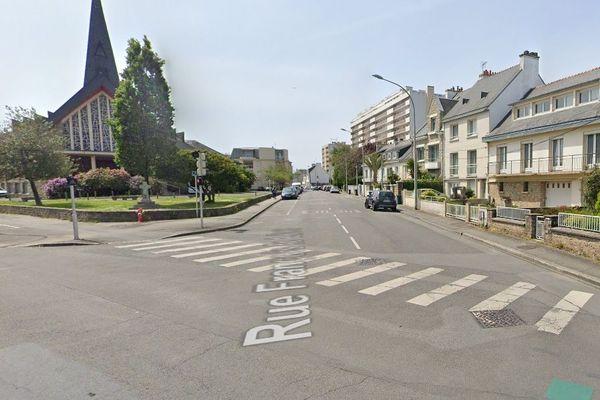 L'accident a eu lieu au niveau de l'intersection entre le Boulevard Léon Blum et la rue François Le Levé à Lorient