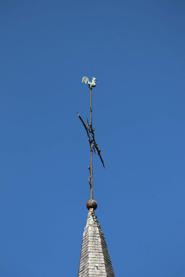 La flèche de l'église Saint-Martin de Baives