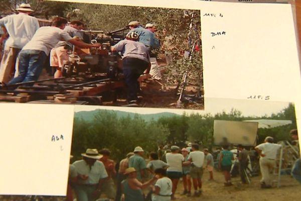 """Le tournage du film """"Le hussard sur le toit"""" a durablement marqué les esprits dans les Baronnies en août 1994."""