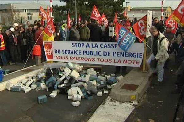 Manifestation des salariés d'EDF et de GDF