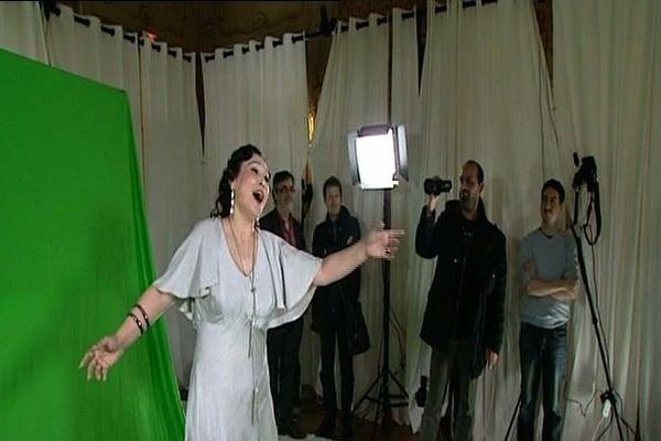 La cantatrice vedette a été modélisée en 3D pour des démonstrations au grand public