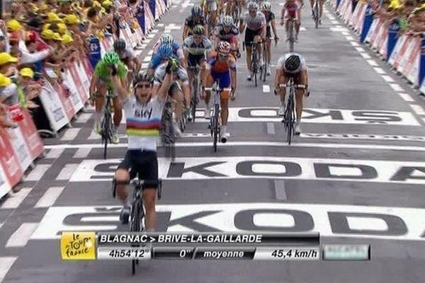 Mark Cavendish vainqueur de la 18ème étape à Brive