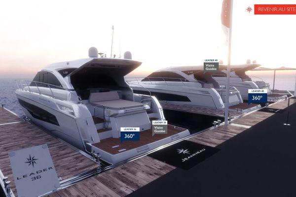 Jeanneau propose un boatshow virtuel, avec visites à 360° des modèles de sa gamme à voile ou à moteur