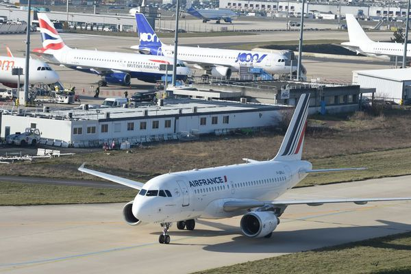 Un Airbus A319 d'Air France, à Roissy (illustration).