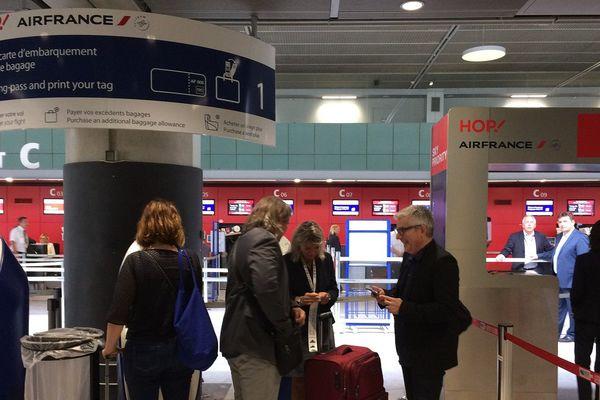 Grève de l'escale Air France à l'aéroport Toulouse-Blagnac