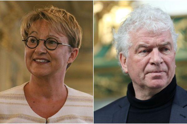Nathalie Appéré, à Rennes, et François Cuillandre, à Brest, deux maires socialistes réélus dans des villes où le PS résiste