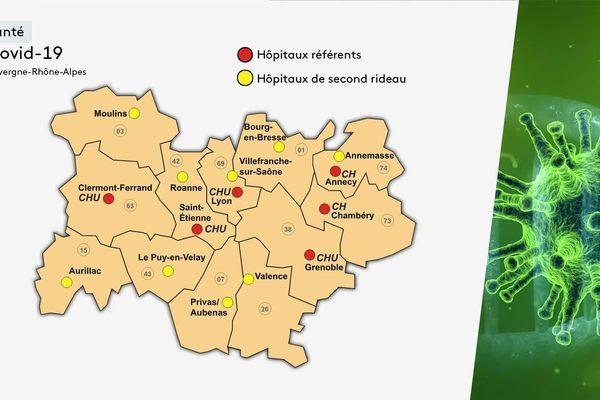 Coronavirus - Covid 19 : les hôpitaux de référence en Auvergne Rhône-Alpes