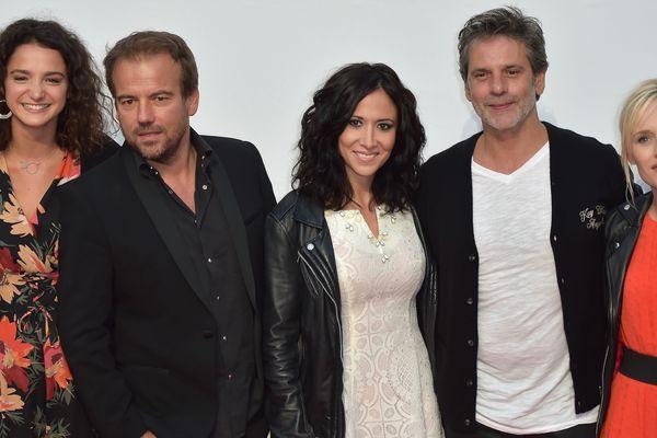 Des comédiens de Plus Belle La Vie lors du festival fiction télévision de La Rochelle, en septembre dernier.