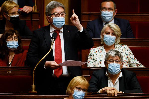 Jean-Luc Mélenchon à l'Assemblée Nationale, le 1er juin 2021.