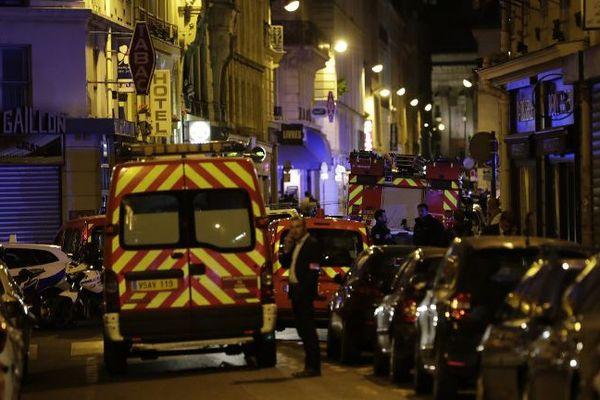 Une attaque au couteau, dans le deuxième arrondissement de Paris, le 12 mai 2018.