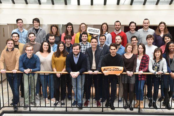 L'équipe de la start-up Ornikar, l'auto-école en ligne.