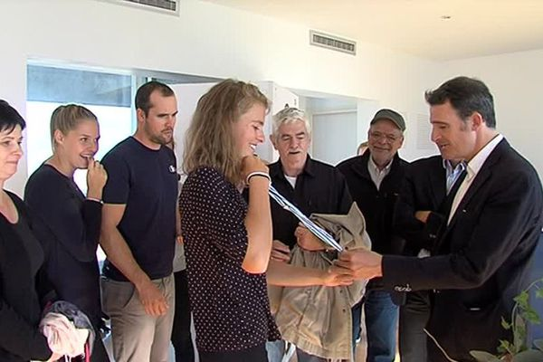 Retour à Grenoble de Laura Tarantola, Championne du monde en skiff (aviron)