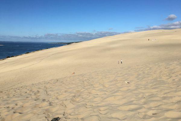 le beau temps revient sur la dune du Pilat.