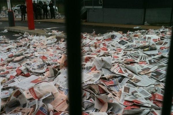 La plate-forme de distribution du groupe Geodis à Bonneuil-sur-Marne a été bloquée ce matin.