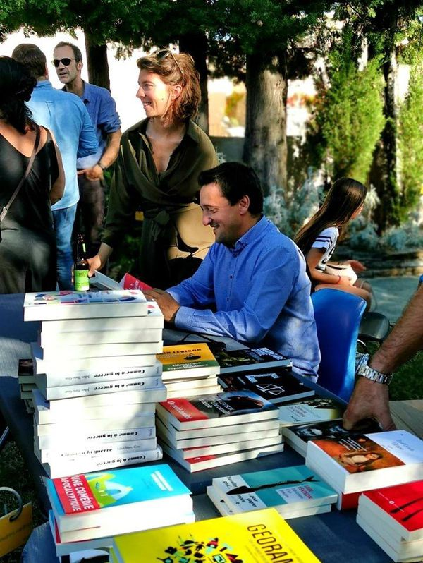 Jacky Schwartzmann et son éditrice au Seuil à Bastia en septembre dernier