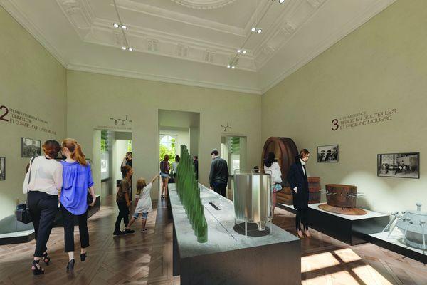 Une salle du futur musée d'Epernay