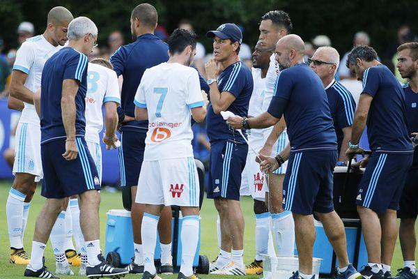 Stage de préparation des joueurs de l'Olympique de Marseille OM à Saillon (Suisse)