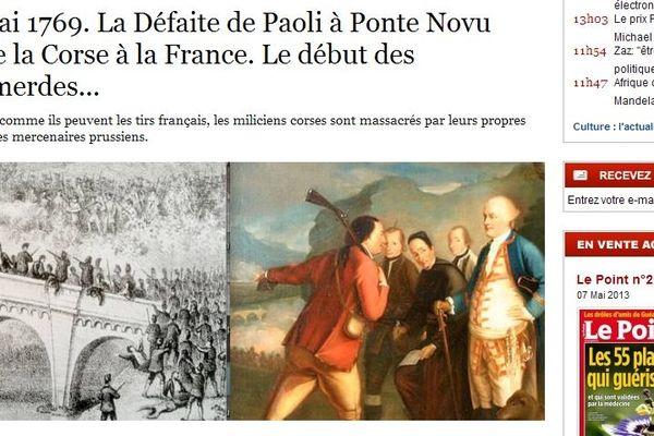 """La rubrique """"C'est arrivé aujourd'hui"""" du 8 mai, dans Le Point."""