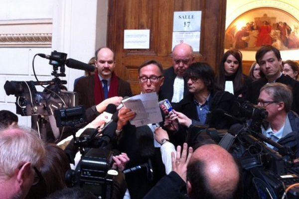 Maître Dominique Tricaud, l'avocat de Jean Germain, a lu la lettre laissée par l'ancien maire de Tours.
