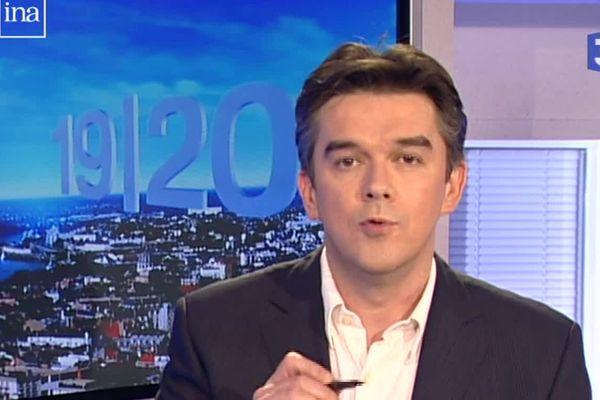 Bertrand Rault sur le plateau de France 3 Pays de la Loire en mars 2008