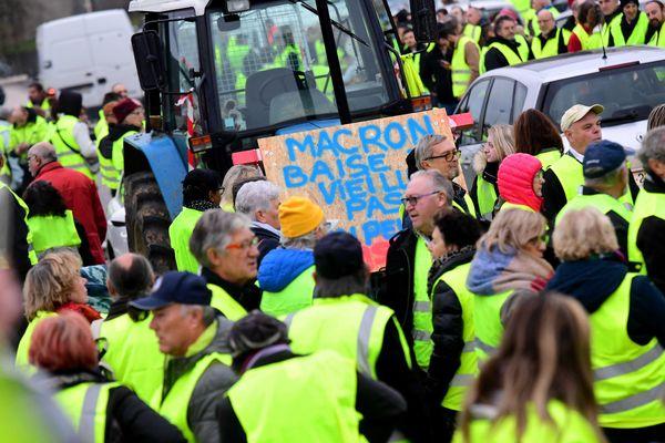 Mobilisation des Gilets Jaunes, Lons-le-Saunier, 17 novembre 2018.