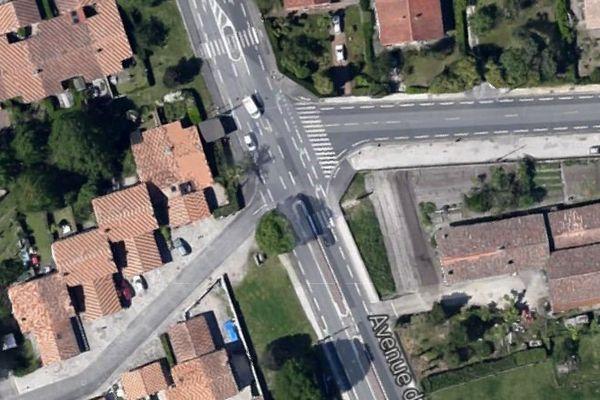 C'est à hauteur de l'avenue des alouettes et de la rue du Pradas qu'a eu lieu l'accident.
