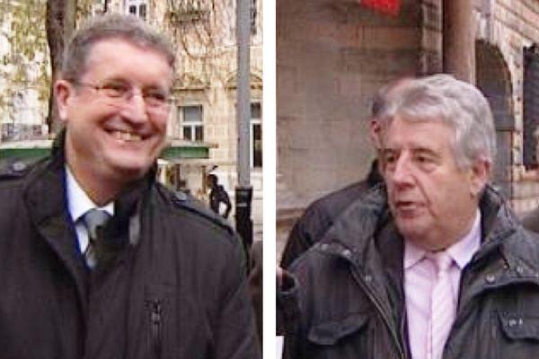 Philippe Gonon (UDI-MODEM-UMP) et Jean-Louis Fousseret (PS-EELV-PC)