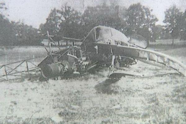 L'hélicoptère militaire qui s'était écrasé en 1964 à Magnac-Laval