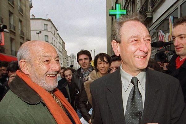 Jean-Pierre Pierre-Bloch, alors conseiller DL à la mairie de Paris, en 2001 avec Bertrand Delanoë candidat à la mairie de Paris.