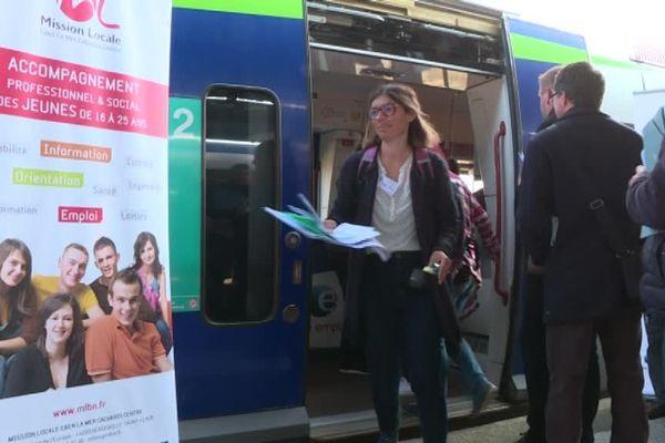 Pole emploi a souhaité rassurer les demandeurs d'emploi sur les trajets quotidiens en train.