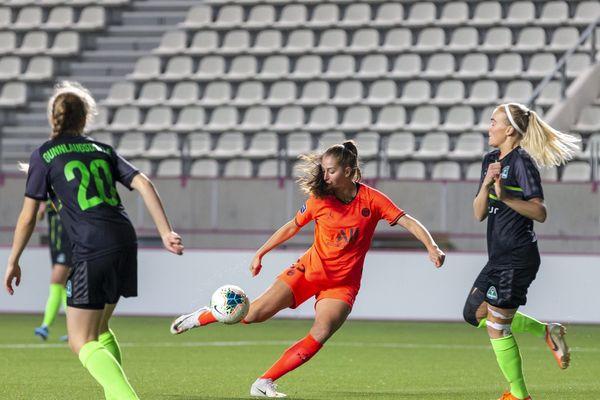 Jordyn Huitema a ouvert le score pour le PSG à la 6e minute face à Breidablik.