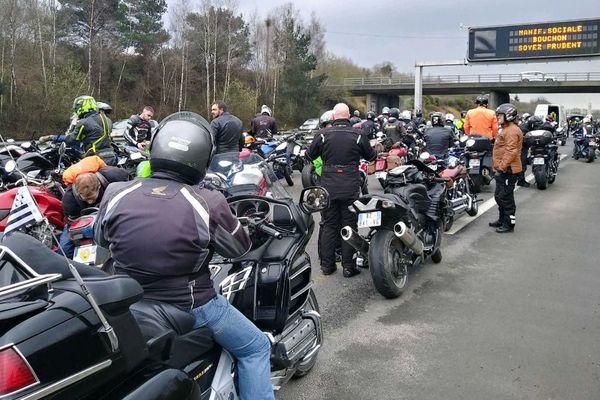 Les motards ont fortement perturbé la circulation sur la rocade de Rennes