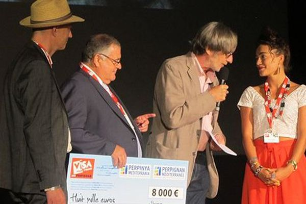 Meeri Koutaniemi (à droite) a remporté le Visa d'Or de la presse quotidienne