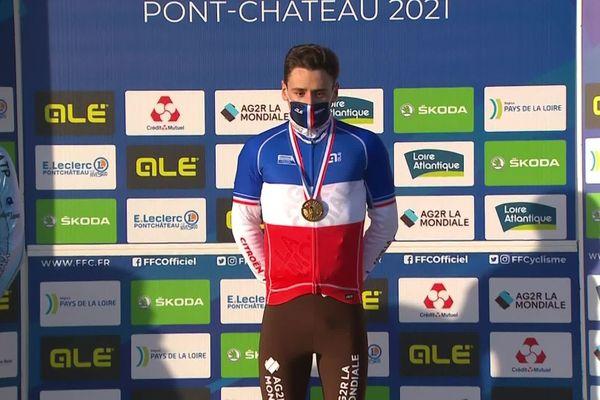 Pour une quatrième année consécutive, Clément Venturini remporte les championnats de France de cyclo-cross  Élites Homme à Pont-Château