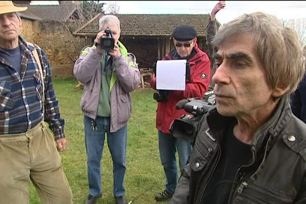 Alain Baptizet lors d'un de ses tournages.